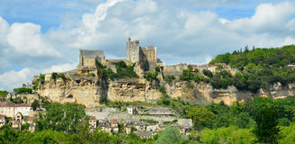 The pretty village of Beynac Royalty Free Stock Photos