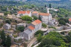 Pretty village Selca on the island of Hvar in Croatia Stock Photos