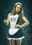 Pretty Vintage sexy maid, housemaid Stock Photos