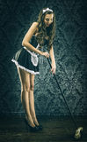 Pretty Vintage sexy maid, housemaid Royalty Free Stock Photo