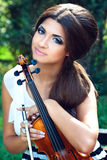 Pretty violinist Royalty Free Stock Images