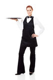 Pretty waitress Royalty Free Stock Images