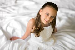 Pretty Wedding Dress Girl Stock Image