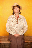Pretty Western Woman Royalty Free Stock Photo