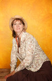 Pretty Western Woman Stock Photography