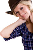 Pretty western woman Royalty Free Stock Photography