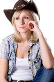 Pretty western woman Stock Photo