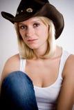 Pretty western woman Royalty Free Stock Photos