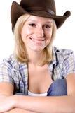 Pretty western woman Stock Photos