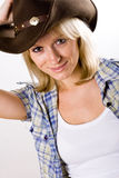 Pretty western woman Stock Images