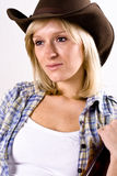 Pretty western woman Stock Photos