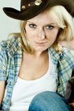 Pretty western woman Royalty Free Stock Images
