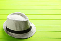 Pretty white hat Stock Image