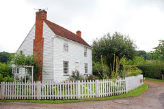 Pretty white kent country cottage royalty free stock photo