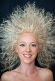 Pretty wild hair woman Royalty Free Stock Photos