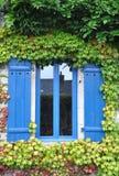 Pretty window Rochefort-en-Terre, France. Royalty Free Stock Photography