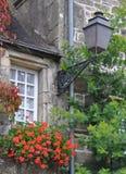 Pretty window Rochefort-en-Terre, France. Royalty Free Stock Image
