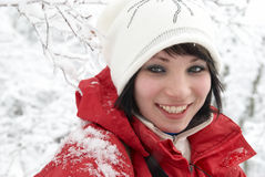 Pretty winter girl Stock Photography