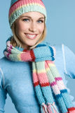 Pretty Winter Girl stock images