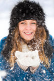 Pretty Winter Lady Royalty Free Stock Photo