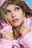Pretty Winter Woman Stock Photo