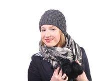 Pretty winter woman stock image