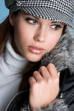 Pretty Winter Woman Stock Photography
