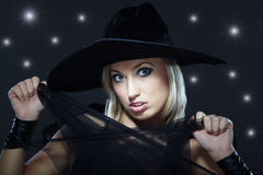 Pretty witch Stock Images