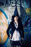 Pretty witch royalty free stock photo