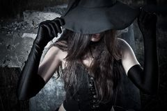 Pretty witch Royalty Free Stock Image