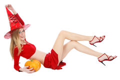 Pretty witch Royalty Free Stock Photos
