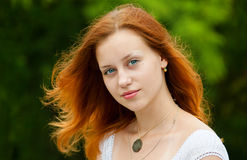 Pretty woman. Closeup portrait of a beautiful young woman stock images