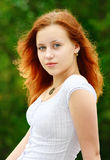 Pretty woman. Closeup portrait of a beautiful young woman stock image