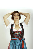 Pretty Woman. With a dirndl Stock Image