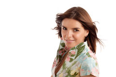 Pretty woman. Portrait of a young pretty woman royalty free stock image