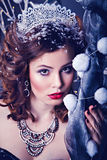 Pretty woman as Snow Queen Stock Image