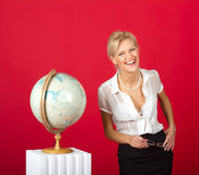 Pretty woman as teacher Royalty Free Stock Image
