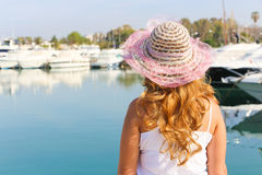 Pretty woman in athene beach Royalty Free Stock Photography