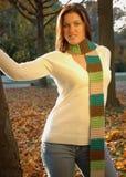 Pretty woman in autumn Stock Image