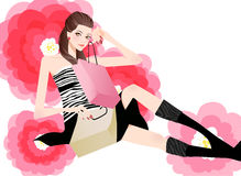 Pretty woman with bag Stock Photography