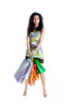 Pretty woman with bags Stock Photo