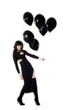 Pretty woman with balloon Royalty Free Stock Images