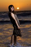 Pretty Woman at a beach Stock Photos