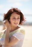 Pretty Woman on Beach Stock Photo