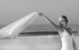 Pretty woman on beach Stock Photography
