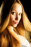 Pretty woman with beautiful hair Stock Photos