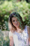 Pretty woman, beautiful moments in nature Royalty Free Stock Photo