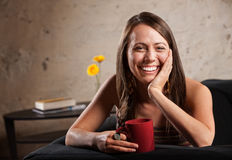 Pretty Woman with Big Smile Royalty Free Stock Image