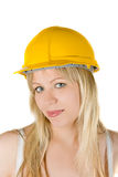 Pretty woman builder Royalty Free Stock Photos