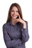 Pretty woman businessman Stock Photos